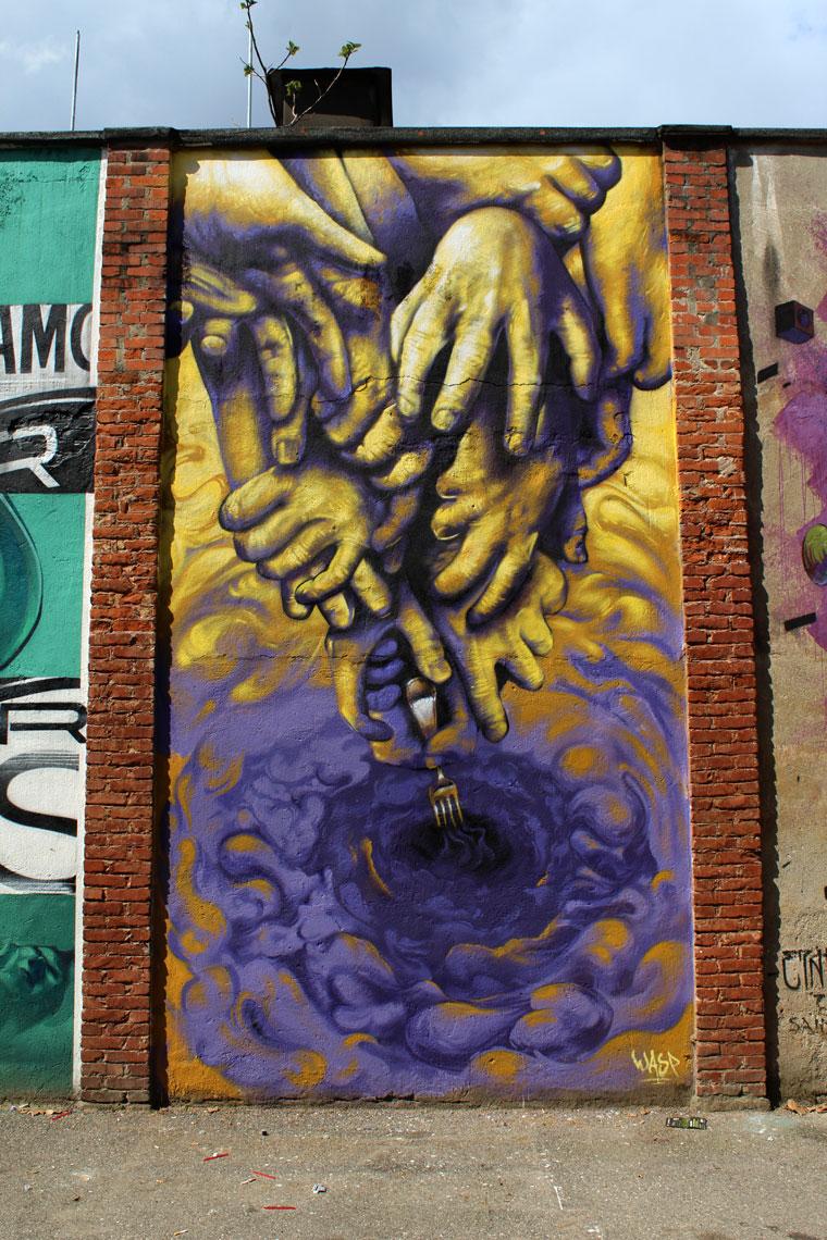 graffiti street art mural torino